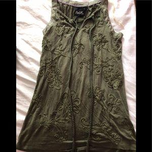 Nanette Lepore emerald, embellished shirt